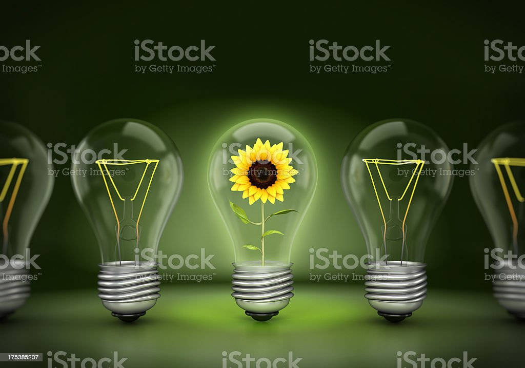 Green energy concept royalty-free stock photo
