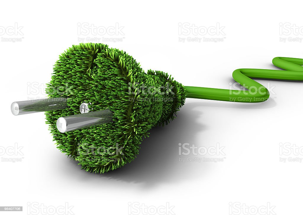 Green energy concept stock photo