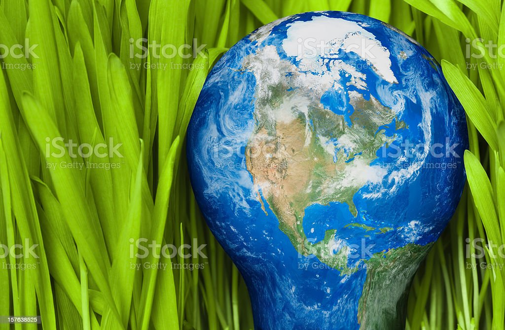 Green Energy for the world royalty-free stock photo