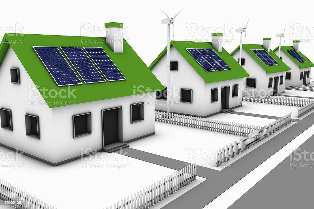 Green Energy Neighborhood royalty-free stock photo