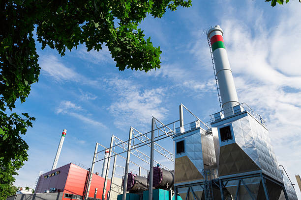 green energy - cogeneration plant stock photos and pictures