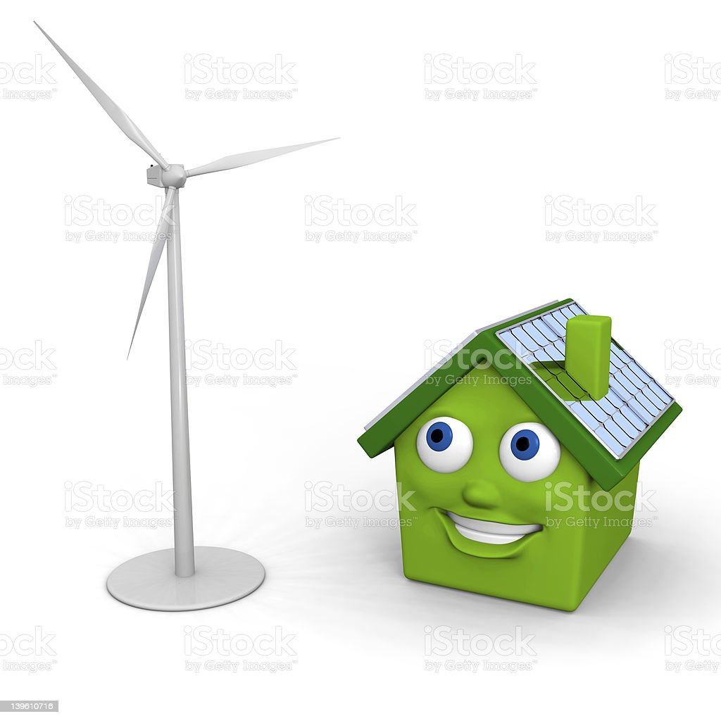 Green energy sources royalty-free stock photo