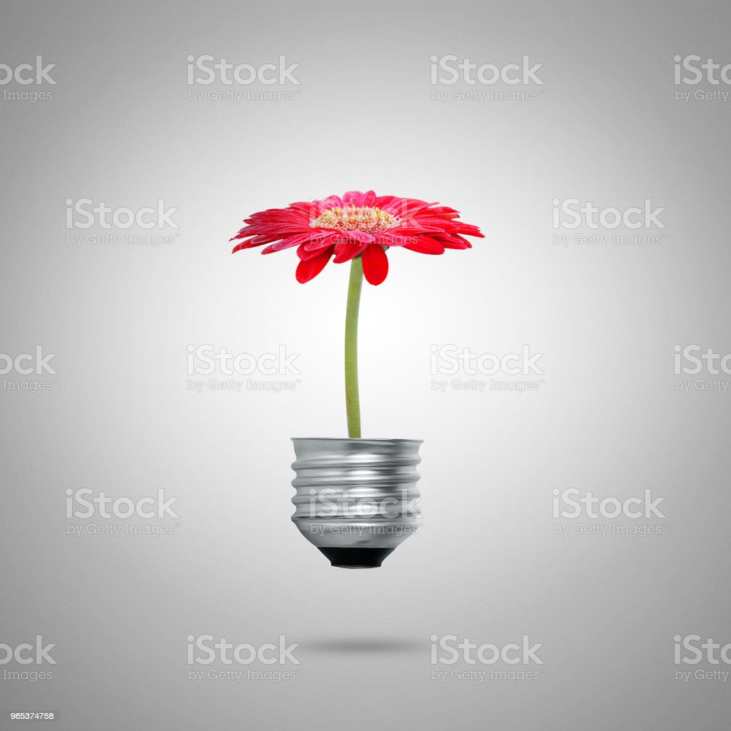 Green energy symbols ecology, light bulb royalty-free stock photo
