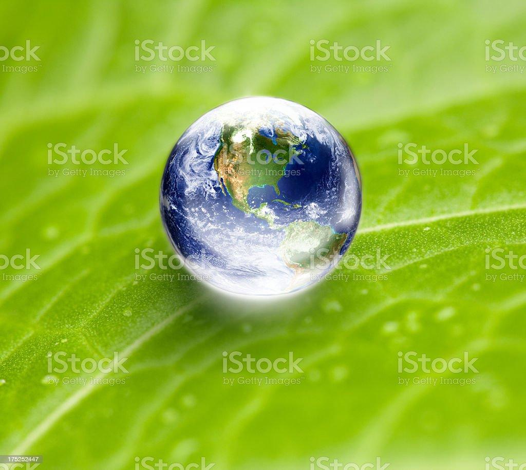 Green environment concept - saving the earth stock photo