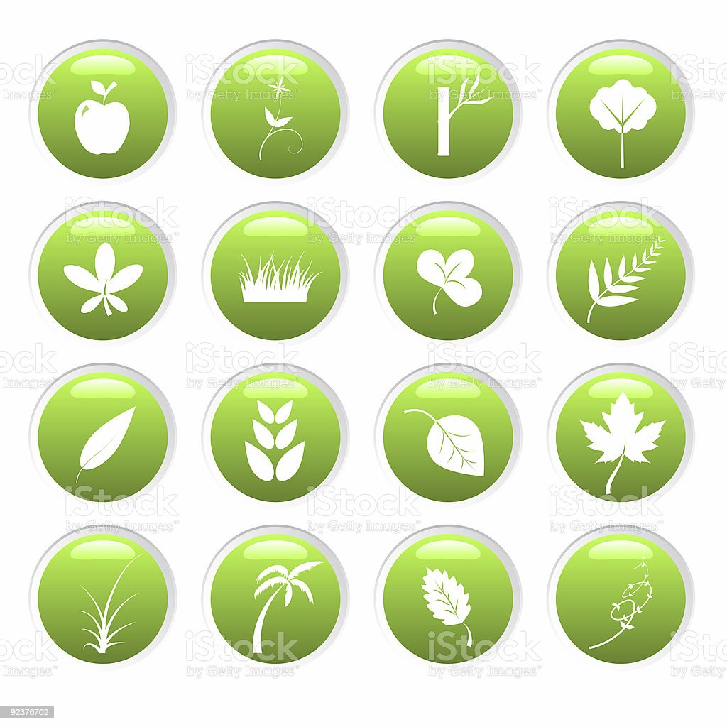 Green environment icons royalty-free stock photo