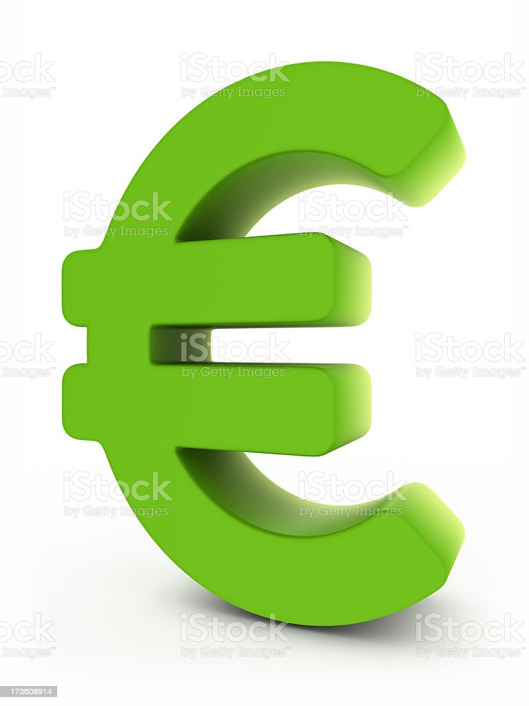 green euro royalty-free stock photo