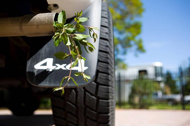 Green Exhaust 4X4 Horizontal Environment Energy Clean stock photo