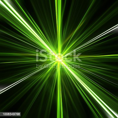 istock Green explosion of blurry lines 1008349768
