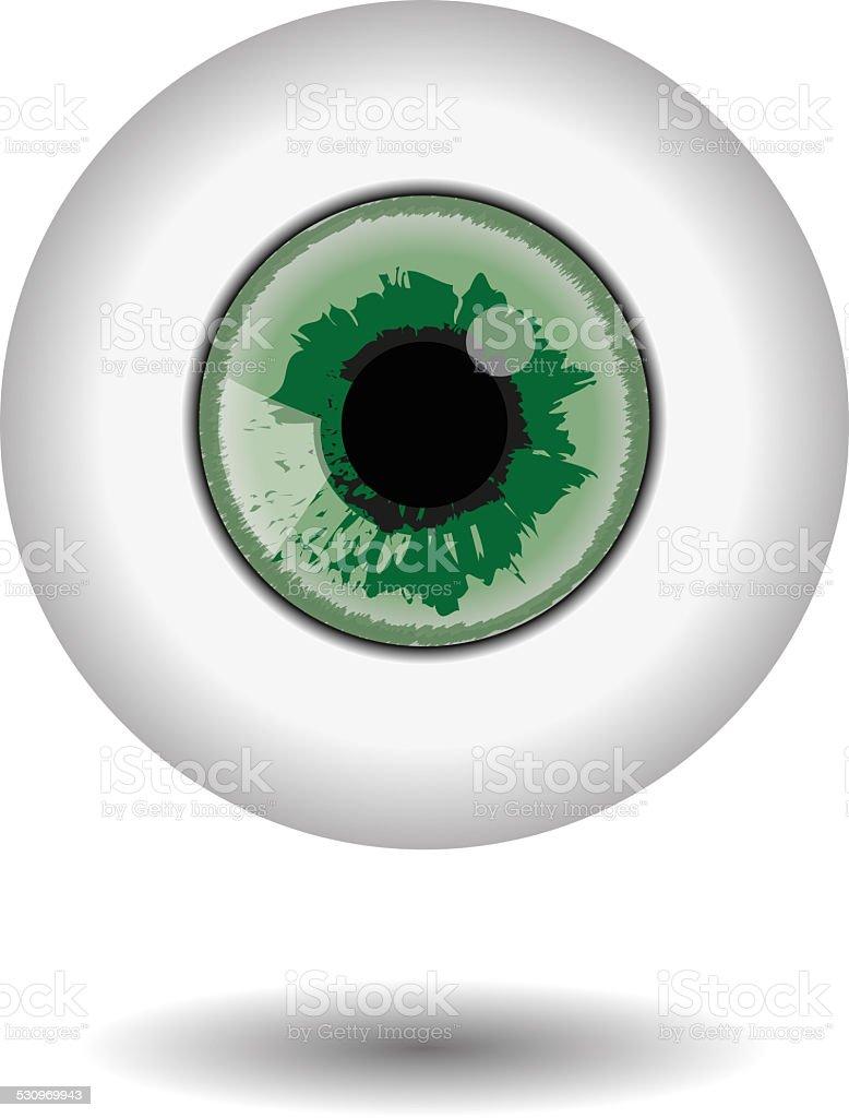 green eye aple stock photo