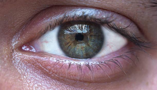 Verde occhio di uomo - foto stock