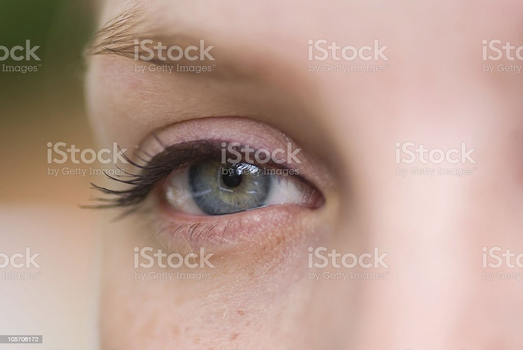 Green eye royalty-free stock photo