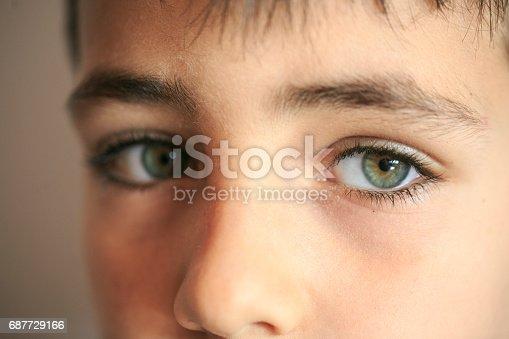istock Green eyes boy 687729166