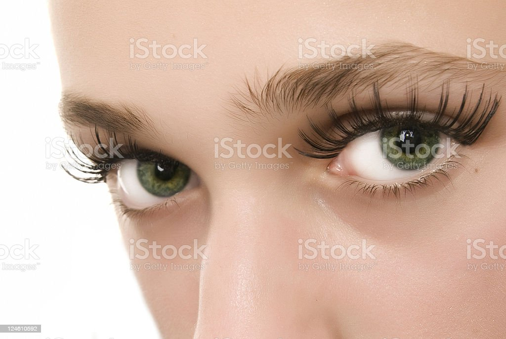 green eyes stock photo
