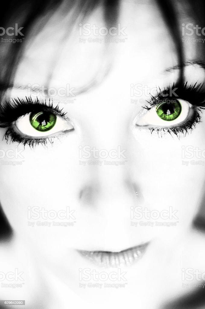 Green Eyes stock photo