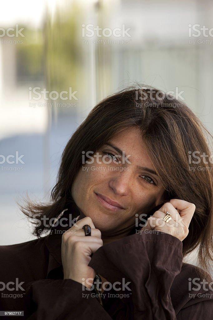 Green eyes woman royalty-free stock photo