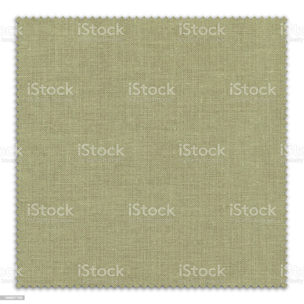 Green Fabric Swatch (Clipping Path) royalty-free stock photo