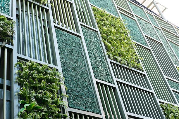 グリーンの正面玄関 - 緑 ビル ストックフォトと画像