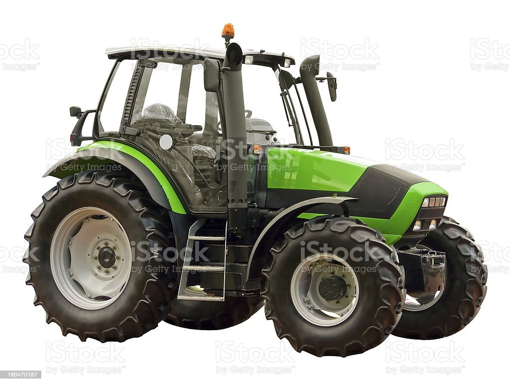 Green farm  tractor royalty-free stock photo