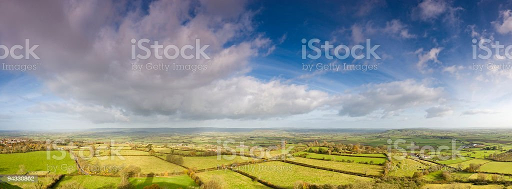 Green farmland, big skies royalty-free stock photo