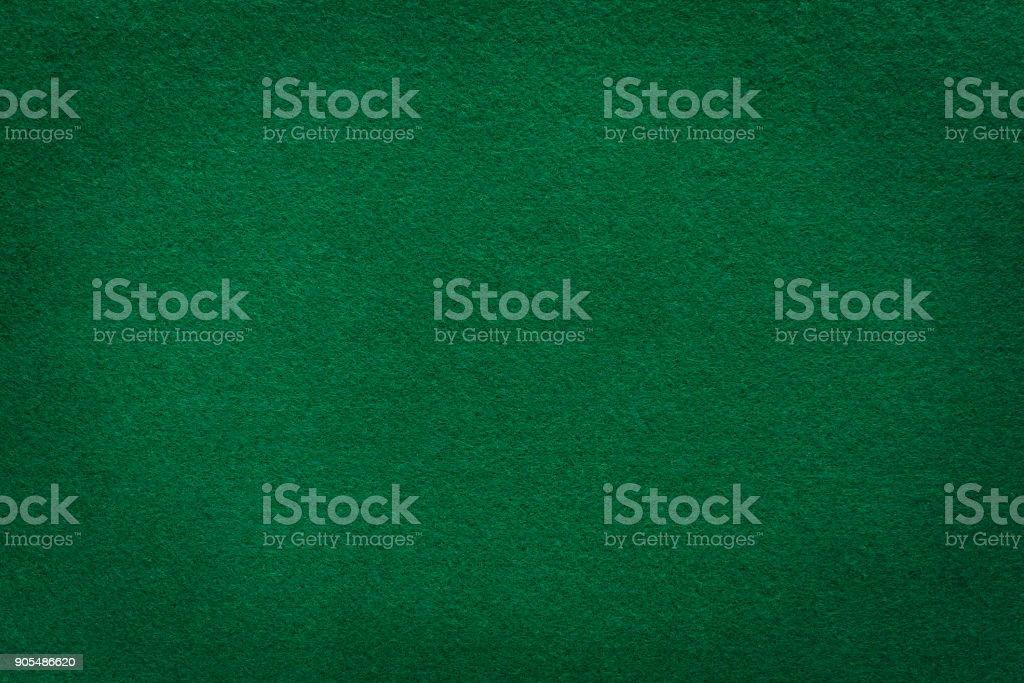 Green felt texture for casino background stock photo