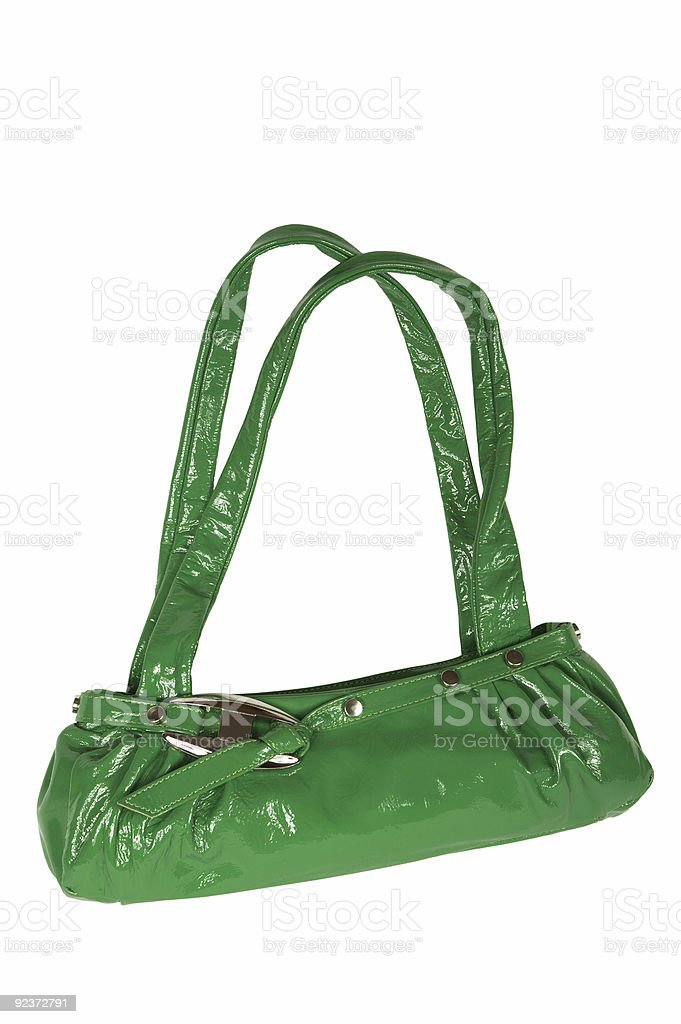 green female bag royalty-free stock photo