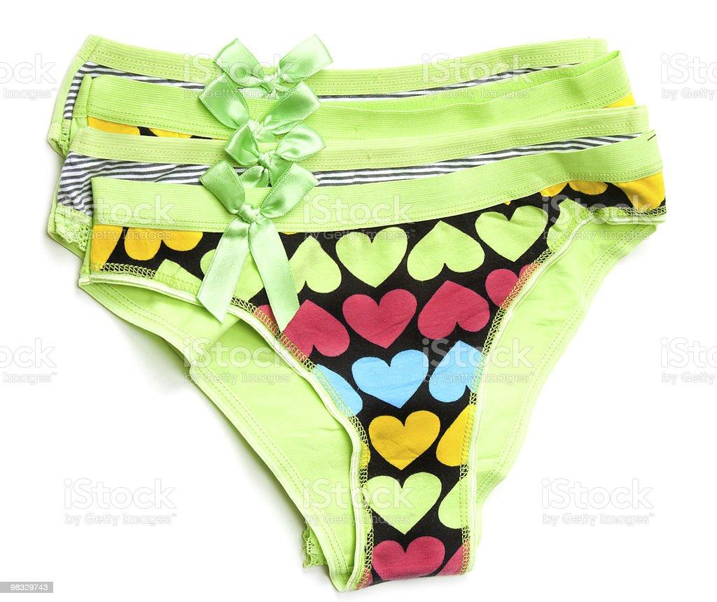 Green feminine panties royalty-free stock photo