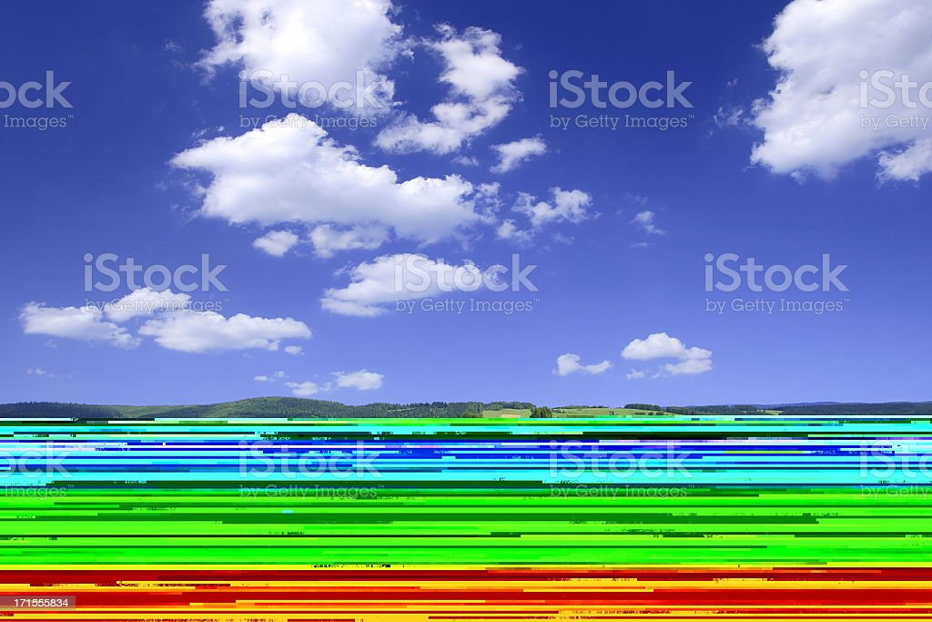 Green field - Landscape royalty-free stock photo