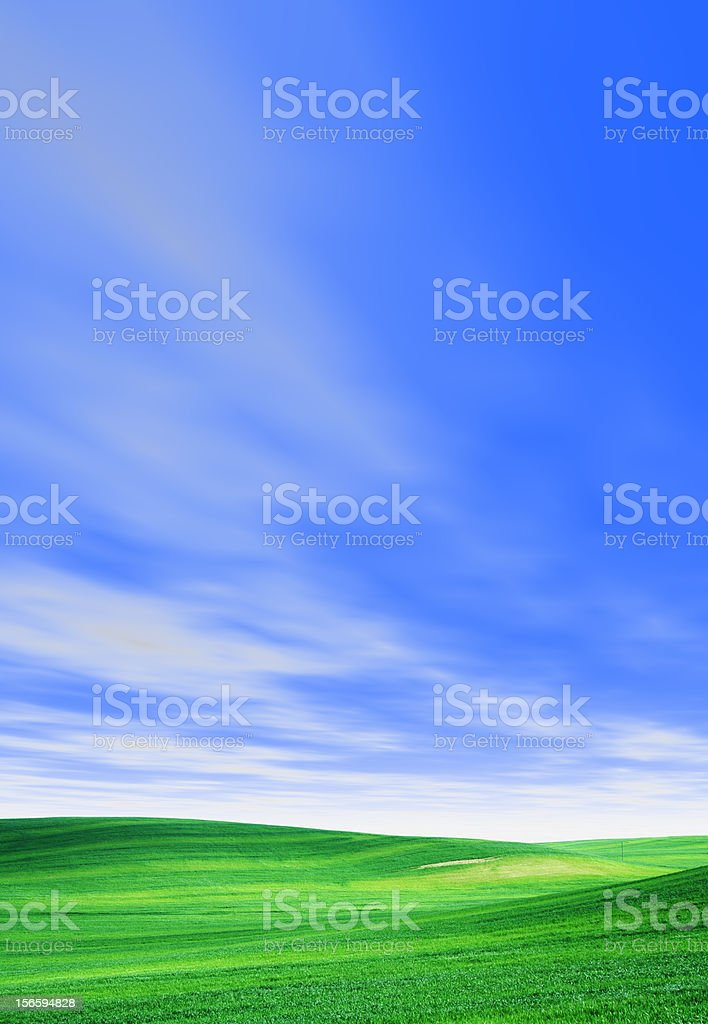 Green Field, Sky royalty-free stock photo
