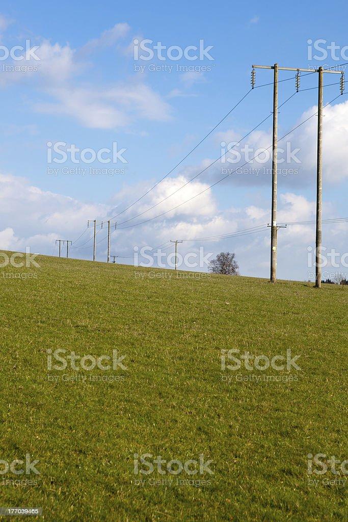 グリーンフィールドに pylons ロイヤリティフリーストックフォト
