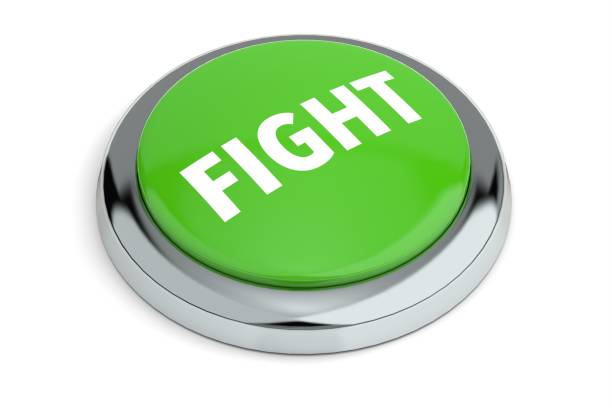 Green Fight Button stock photo