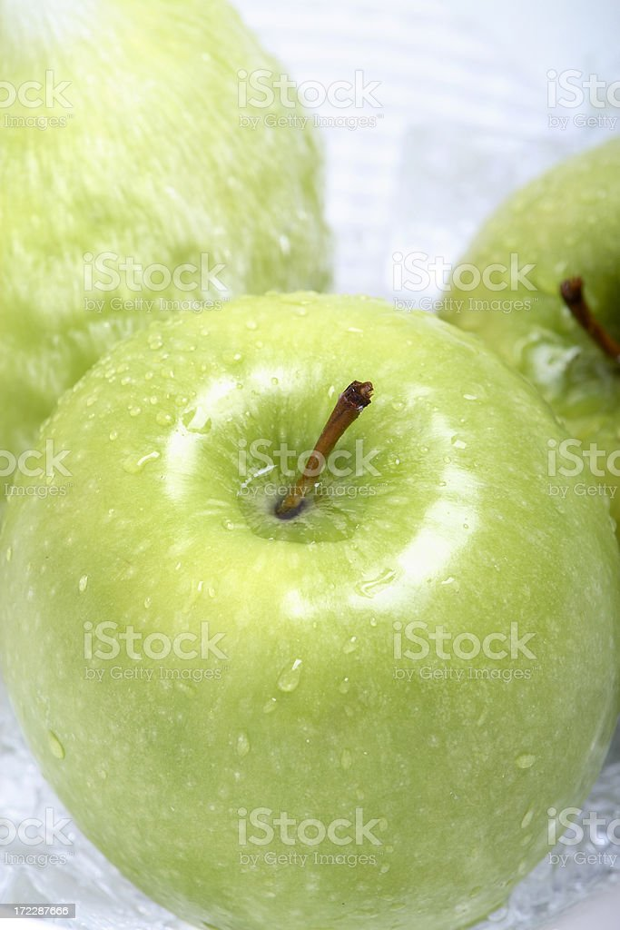 Green Fiji Apples royalty-free stock photo
