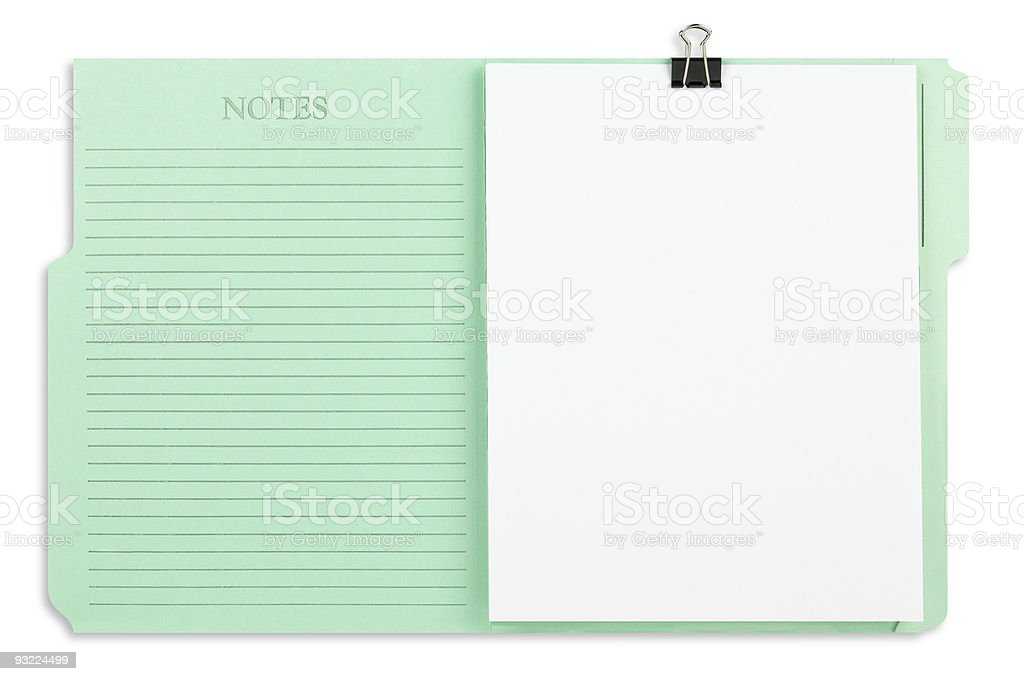 Green File Folder Isolated royalty-free stock photo
