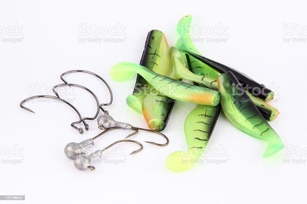 Green Fishing luer. royalty-free stock photo