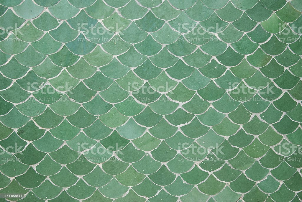Green Fishscale Abstract Background stock photo