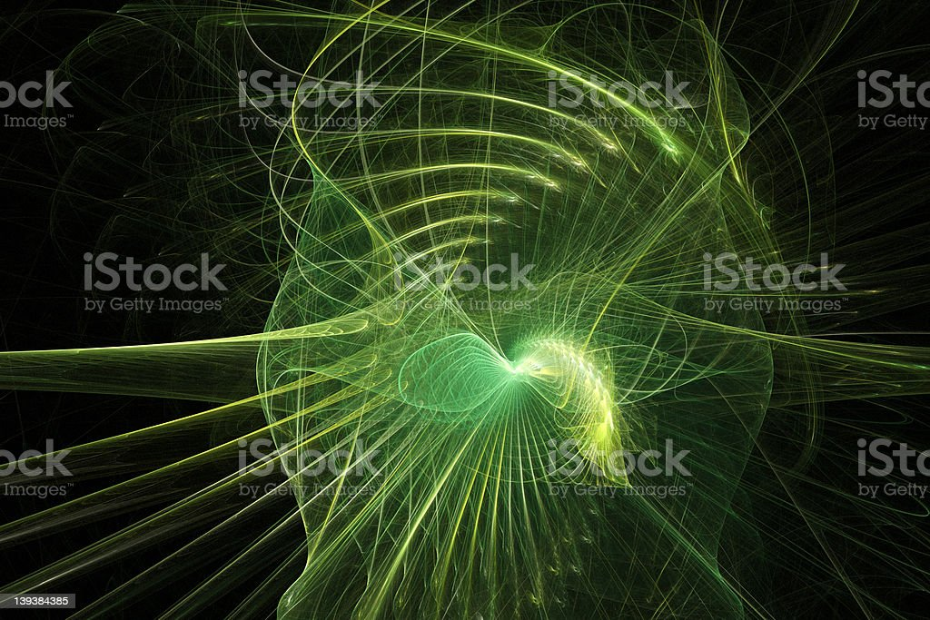 Green flare frame fractal stock photo