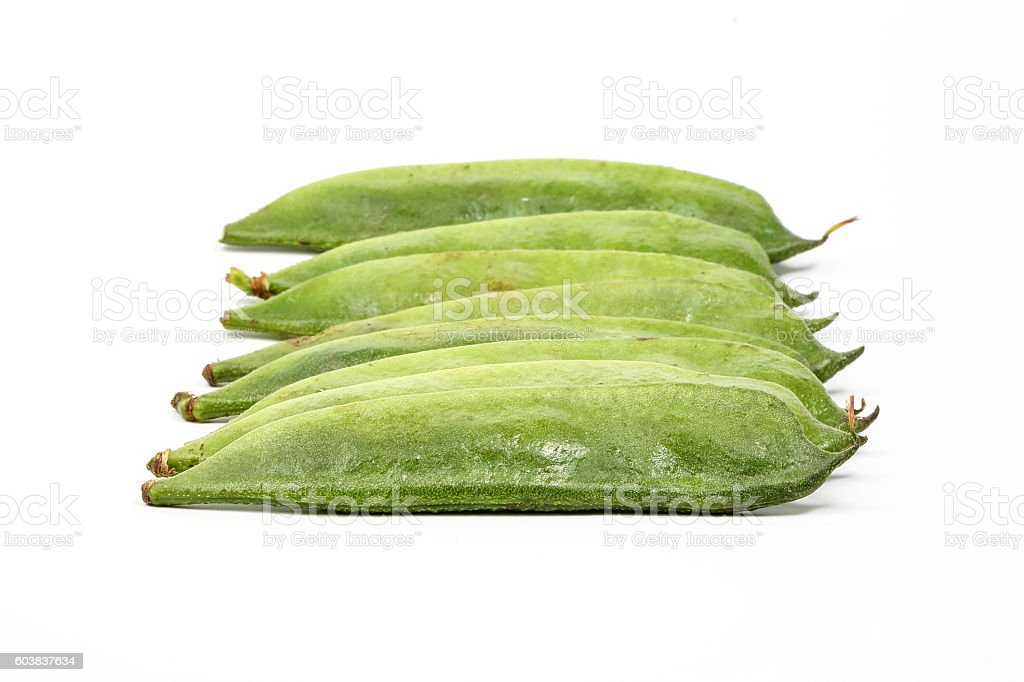 Green Flat Bean stock photo