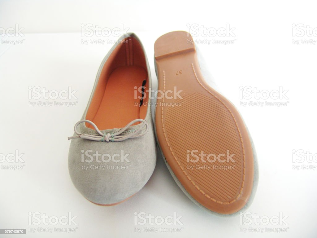 Green Flat Shoes stock photo