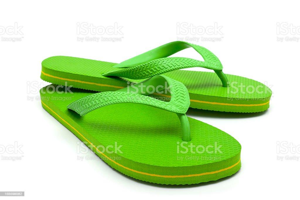 Green flip flop stock photo