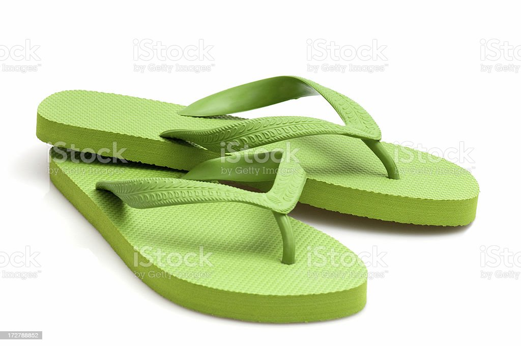 green flip-flop stock photo
