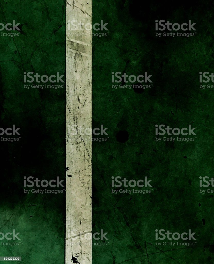 green floor with white line royalty-free stock photo