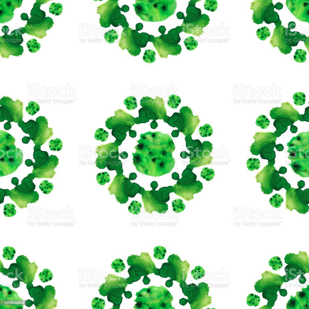 Green flora pattern.jpg stock photo