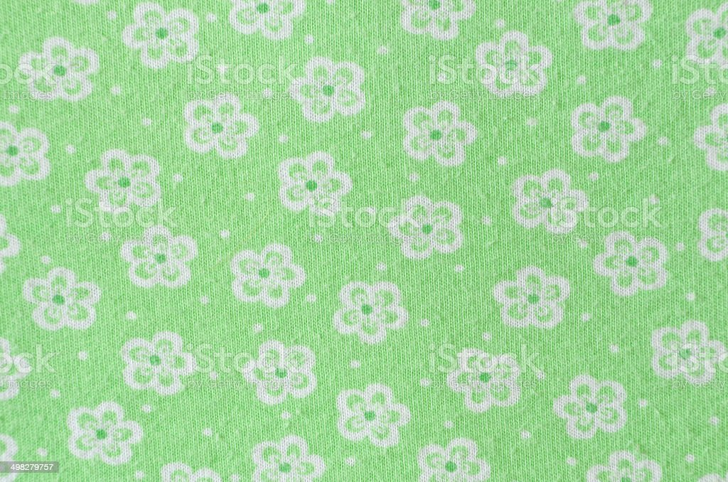 Green Floral Print royalty-free stock photo