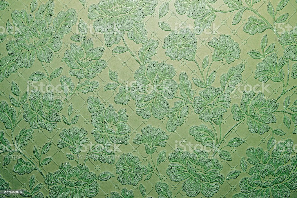 Green flower ornament background texture. stock photo
