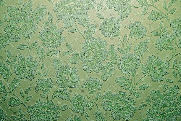 green flower ornament background texture. - brokat stock-fotos und bilder