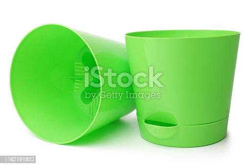 istock Green flowerpots 1162191822