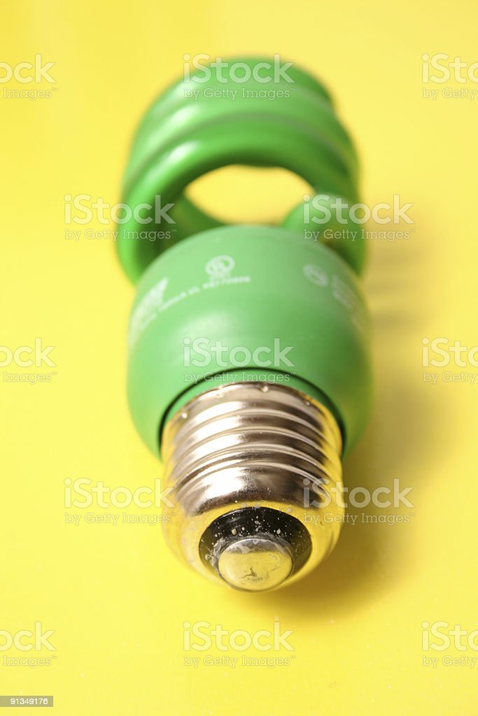 Green Fluorescent Light royalty-free stock photo