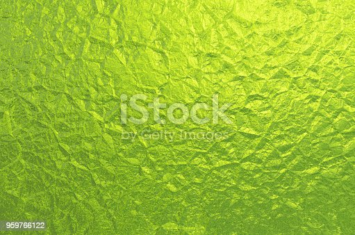 istock Green Foil Background Abstract Greenery Wrinkled Texture Holiday Pattern 959766122