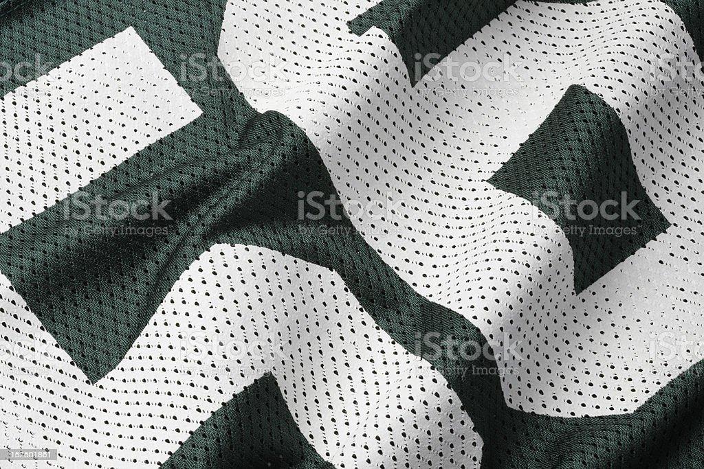 Green football Jersey royalty-free stock photo