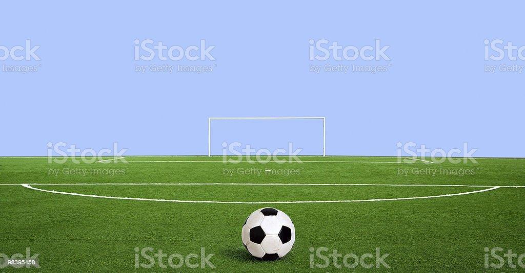 Green football royalty-free stock photo