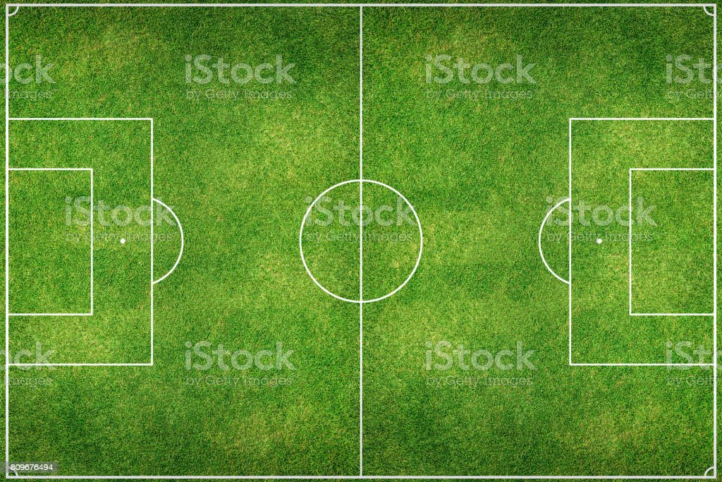 Green Football Stadium field - foto stock